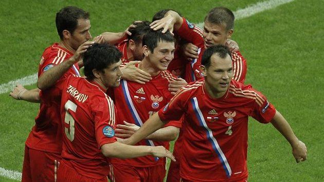 Radost ruských fotbalistů