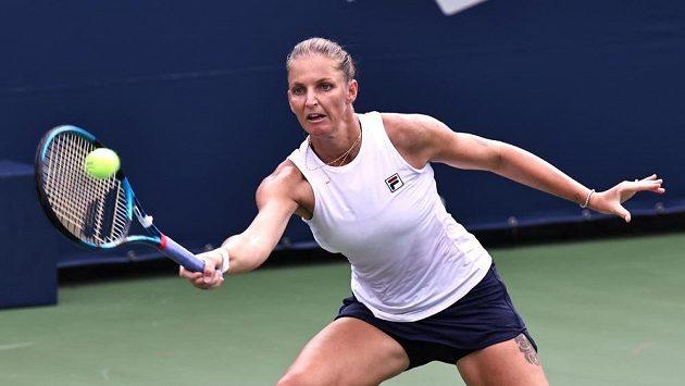 Karolína Plíškova v Montrealu při utkání s Donnou Vekičovou z Chorvatska. Ilustrační foto.