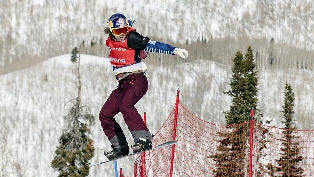 Eva Samková na trati finálového závodu na MS v USA.