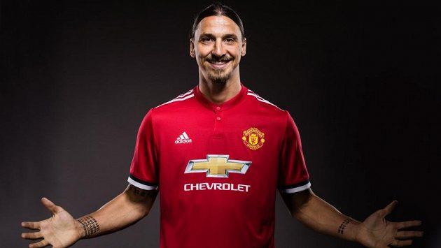 Zlatan Ibrahimovic v dresu Manchesteru United.