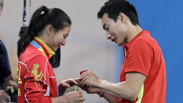 Che C´a Čchin Kchaj právě prožívají životní období, po zisku medailí se zasnoubili přímo v brazilském Riu.