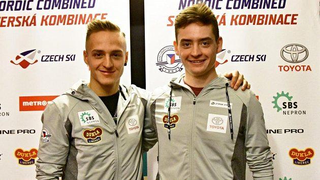 Tomáš Portyk (vlevo) a Ondřej Pažout, aktuálně dva nejlepší čeští sdruženáři.