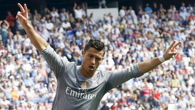 Cristiano Ronaldo z Realu Madrid si nebývale zastřílel, Espaňolu dal v ligovém zápase pět gólů.
