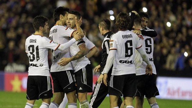 Radost fotbalistů Valencie