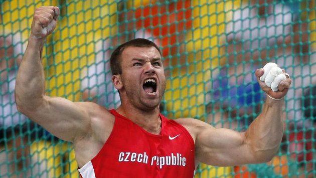 Kladivář Lukáš Melich během finále mistrovství světa v Moskvě