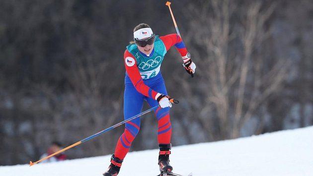 Česká běžkyně na lyžích Petra Nováková.