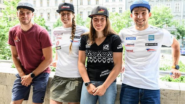 Vodní slalomáři nominovaní na OH do Tokia (zleva): Lukáš Rohan, Kateřina Minařík Kudějová, Tereza Fišerová a Jiří Prskavec.