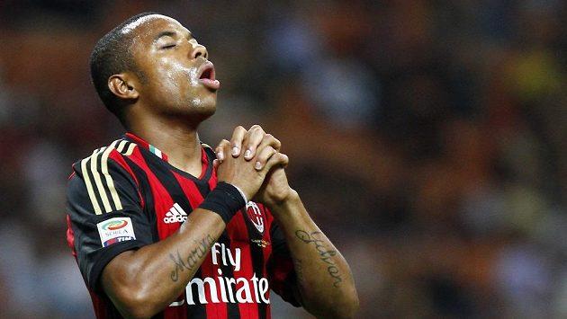 Útočník AC Milán Robinho.