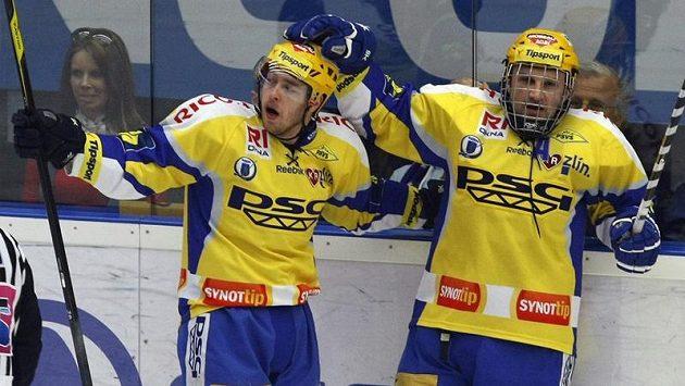 Martin Hamrlík ze Zlína (vpravo)