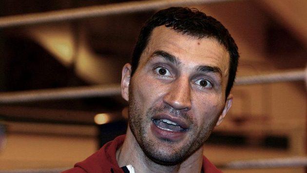 Ukrajinský boxer Vladimir Kličko na archivním snímku.