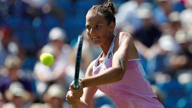 Karolína Plíšková na turnaji v Eastbourne. Ve Wimbledonu bude plnit roli turnajové sedmičky.
