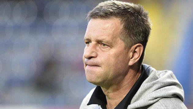 Trenér Zlína Josef Csaplár během utkání s Jabloncem