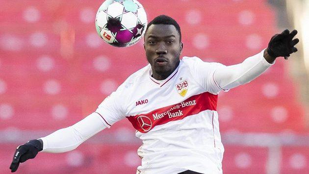 Stuttgartský Silas Katompa Mvumpa ještě v době, kdy hrál jako Silas Wamangituka.