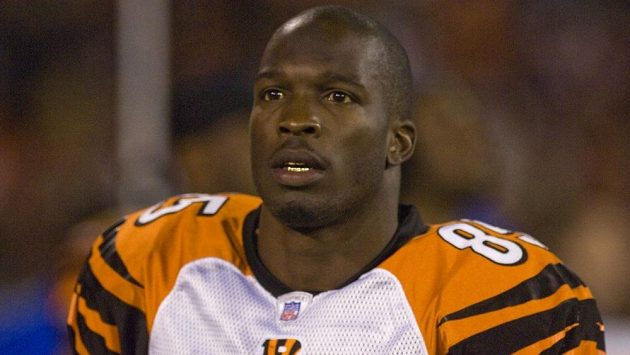Hvězda NFL Chad Johnson na snímku z roku 2007 v dresu Cincinnati Bengals.