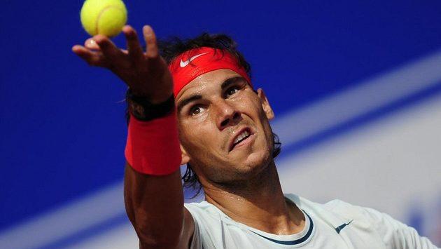 Španělský tenista Rafael Nadal na turnaji v Barceloně.
