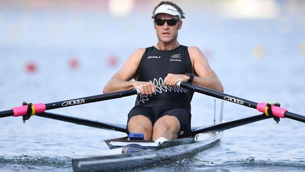 Novozélandský skifař Mahé Drysdale na olympijských hrách v Riu de Janeiro.