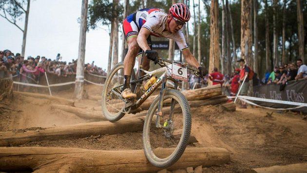 Jaroslav Kulhavý během podniku Světového poháru horských kol cross coutnry v Jihoafrické republice.