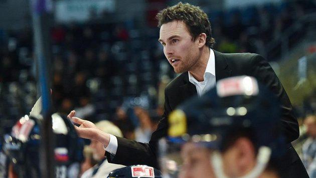 Liberecký trenér Filip Pešán během utkání s Olomoucí.