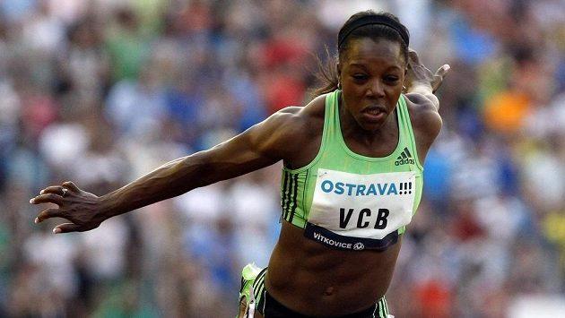 Sprinterka Veronica Campbellová-Brownová na atletickém mítinku Zlatá tretra v Ostravě.