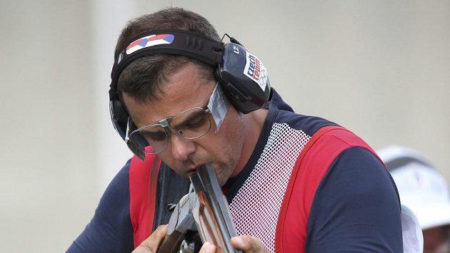 Český střelec David Kostelecký skončil v trapu čtvrtý.