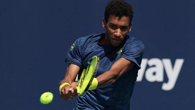 Kanadský tenista Felix Auger-Aliassime na turnaji v Miami.