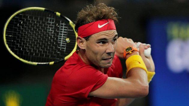 Španělská světová tenisová jednička Rafael Nadal během ATP Cupu v Perthu.