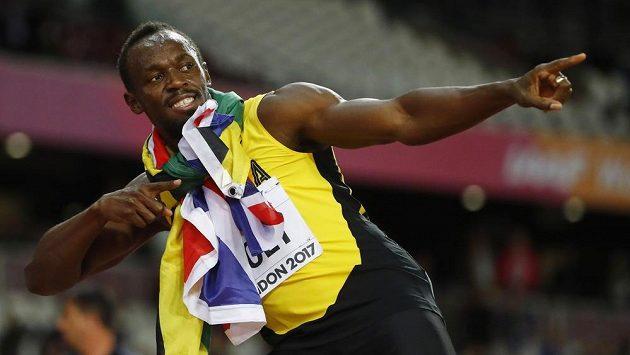 Usain Bolt po své poslední stovce kariéry.