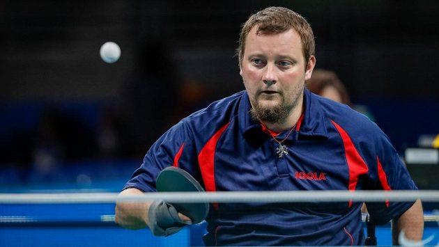 Stolní tenista Jiří Suchánek.