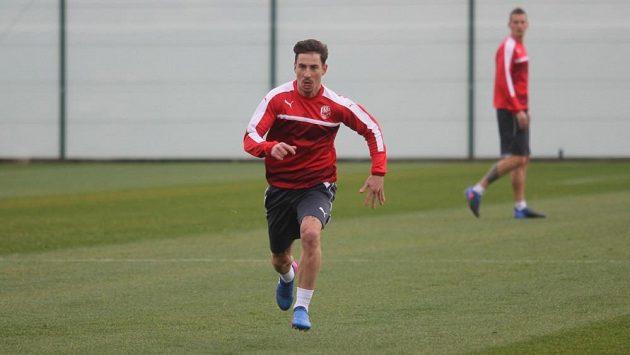 Plzeňský záložník Milan Petržela během soustředění.
