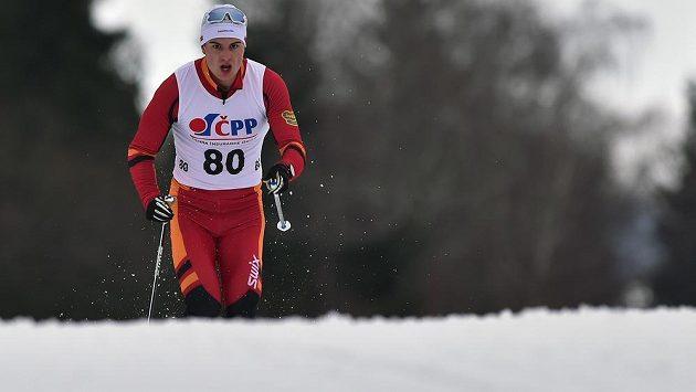 Michal Novák z Dukly Liberec při mistrovství republiky v Novém Městě na Moravě.