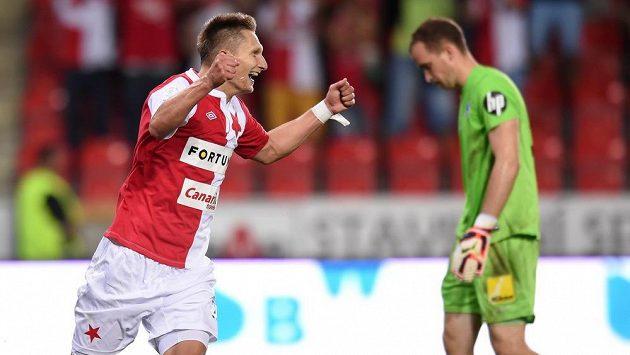 Zž třináctkrát v této sezóně už takto slavil Milan Škoda gól . Do sítě Sparty se však ještě nikdy netrefil