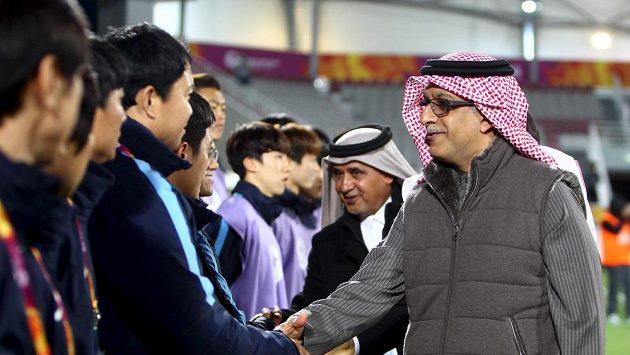 Salmán bin Ibráhím Chalíf, jeden z hlavních favoritů na vítězství ve volbách nové hlavy FIFA.