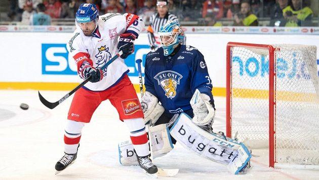 Michal Řepík v zápase proti Finsku na Českých hokejových hrách 2019.