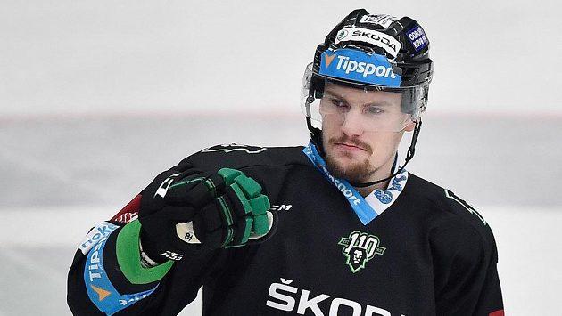 Petr Holík z Boleslavi při utkání se Spartou.