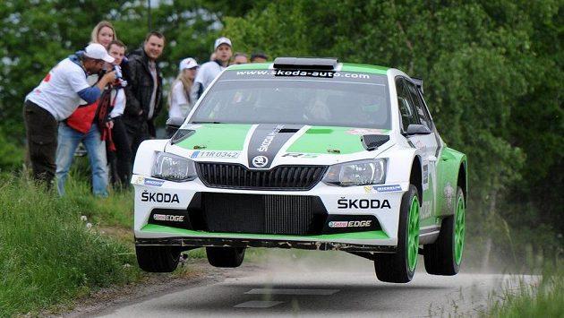 Jan Kopecký se Škodou Fabia R5 na archivním snímku z Rallye Český Krumlov.