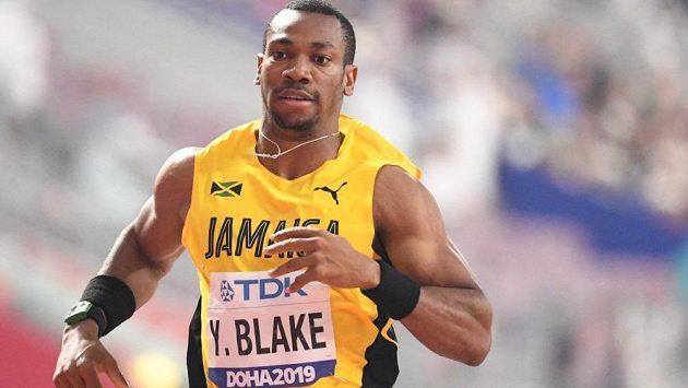 Jamajský sprinter Yohan Blake při světovém šampionátu v Dauhá.