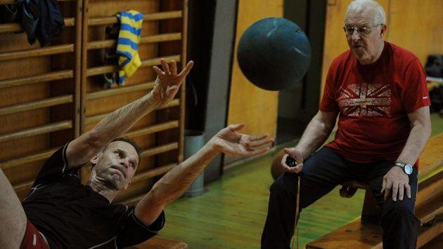 Josef Bruk (vpravo) při tréninku s Dominikem Haškem.