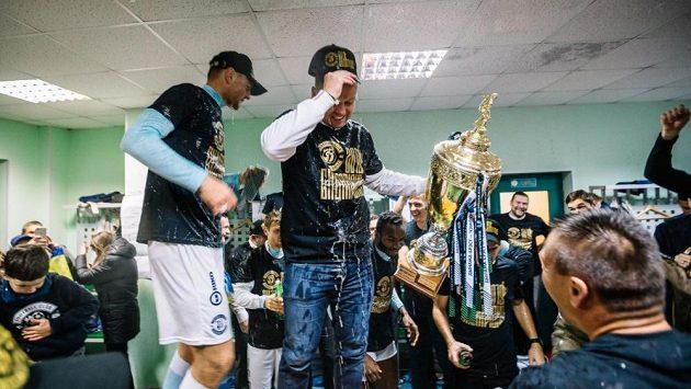 Marcel Lička slavil titul Brestu v běloruské fotbalové lize. K úspěchu gratuloval i Diego Maradona.