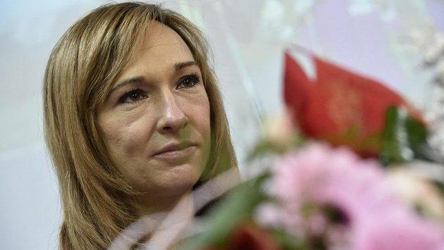 Běžkyně na lyžích Eva Vrabcová-Nývltová po propuštění z bohunické fakultní nemocnice.
