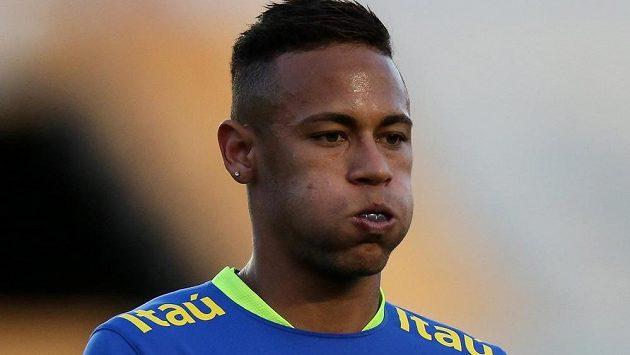 Neymar, hvězda domácího olympijského výběru.