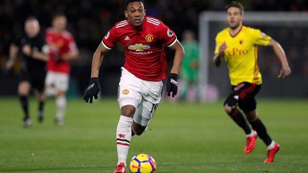 Fotbalista Manchesteru United Anthony Martial se podílel jedním gólem na výhře nad Watfordem v Premier League.