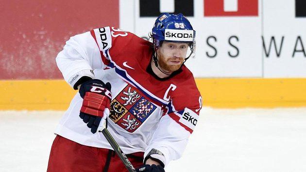 Jakub Voráček během utkání hokejového mistrovství světa proti Švédsku.