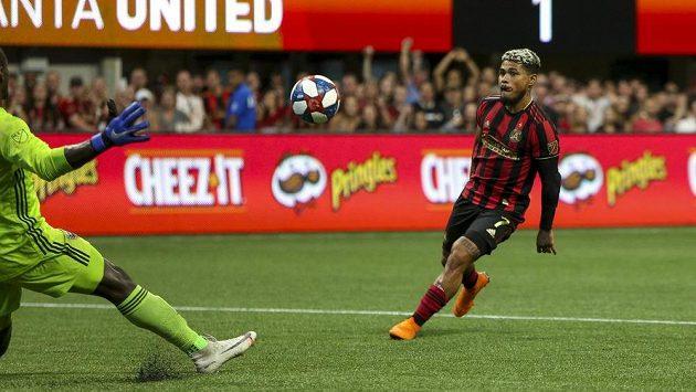 Fotbalista Atlanty United Josef Martínez během utkání MLS proti D.C. United.