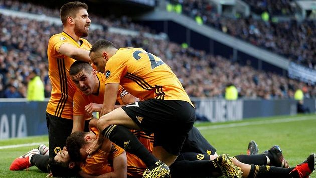Radost fotbalistů Wolverhamptonu.