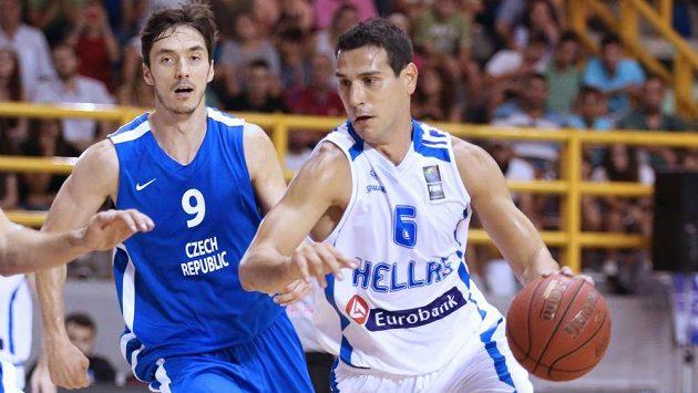 Jiří Welsch (vlevo) a Nikolaos Zisis z řeckého týmu.