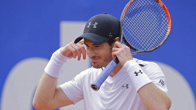 Andy Murray během semifinále turnaje v Barceloně.