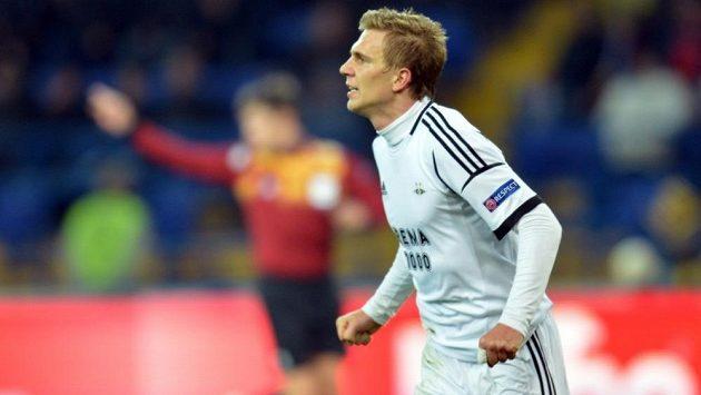 Záložník Bořek Dočkal v dresu Rosenborgu Trondheim.
