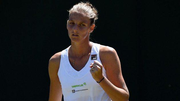 Karolína Plíšková v 1. kole Wimbledonu.