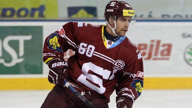 Kapitán hokejistů Sparty Tomáš Rolinek.