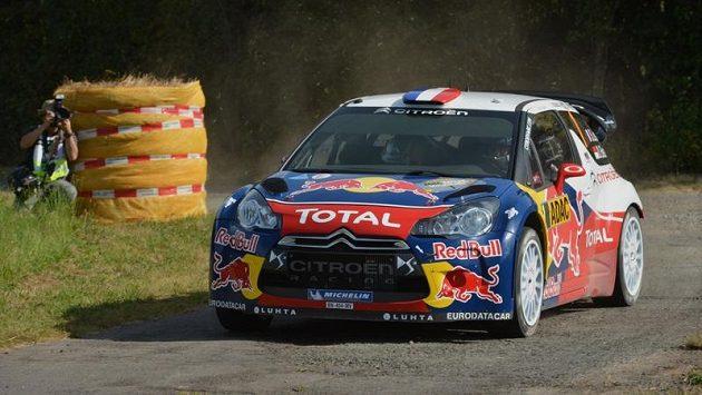 Sebastien Loeb během tréninku na Německou rallye